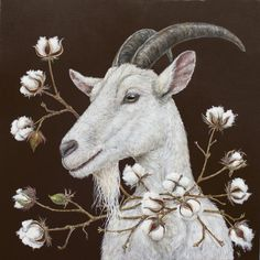Distinctive Gifts Mean Long Lasting Recollections Goat - Art By Vickie Sawyer Art And Illustration, Goat Art, Sheep Art, Arte Obscura, Pet Costumes, Whimsical Art, Animal Paintings, Spirit Animal, Pet Portraits