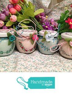 Decorazioni floreali 4 vasetti con candele di cera di soia e oli essenziali per tutte le occasioni da GioCandles https://www.amazon.it/dp/B0743JNR1R/ref=hnd_sw_r_pi_dp_eRAIzbM7YEK97 #handmadeatamazon