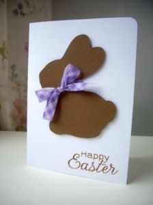 Easter card - would be cute with Some Bunny Loves You on it