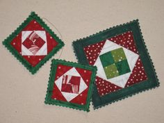 Patchwork ornament picture tutorial