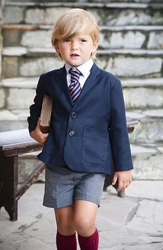 Keep your child by far the most fashionable one in and other considering the training right now with toddler and newborn baby children school uniforms. Toddler School Uniforms, Kids Uniforms, Police Uniforms, Baby Boy Fashion, Kids Fashion, Boys Short Suit, Stylish Boys, Kids Wear, Toddler Boys