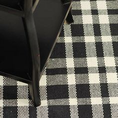 Dash and Albert Rugs Woven Tattersall Black/Ecru Rug Imbrace your plaid love with an area rug.