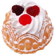 Vanilla Bundt Cake Raspberry Fake Dessert - DecorCentral.com... ($12) ❤ liked on Polyvore featuring home, kitchen & dining, flatware, cake utensils, dessert utensils and dessert flatware