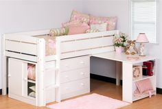 Whistler Low Twin Loft Bed in Solid New Zealand Pine $270.00 cute for a little girls room one day!