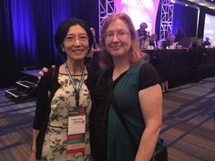 Friday With board member, past roommate, and friend Evelyn Garland. #picturechallenge #ata57
