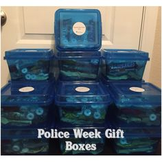 police week gift boxes police officer gifts police gifts ems week blessing bags