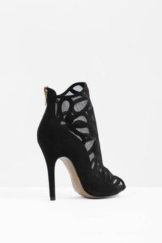 Shoes, Black Jaiden Peep Toe Booties
