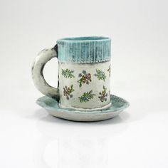 Espresso Mug  coffee mug tea cup with saucer  matte by hadleyclay, $38.00