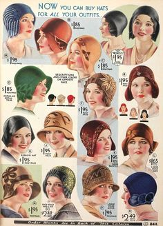 Hats from the 1920's - 1930's.