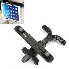 Car Tablet Holder Bracket 7-13 inch 360 Degree Rotation Auto Back Seat Headrest Mount Stand for iPad Air 1 2 3 4 Samsung Tablet