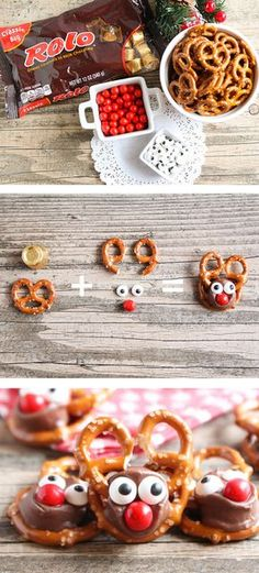 Rolo Pretzel Reindeer - these tasty treats are perfect for the holiday season and so easy to make!: