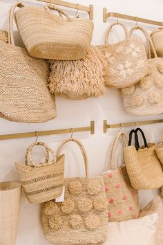 Photo Diary: The Little Market Store Opening - Lauren Conrad Accessories Store, Fashion Accessories, Fashion Clothes, Jute Bags, Woven Bags, Basket Bag, Fabric Bags, Photo Diary, Summer Bags