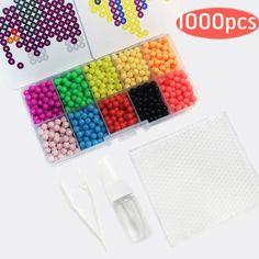 1000ピース水beadbondアクアビーズjouets perlerビーズおもちゃペグボードhamaピクセルマジックビーズジグソーパズル子供パズル教育玩具