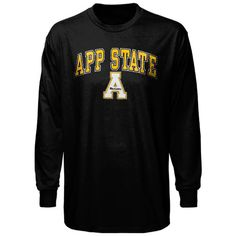 Appalachian State Mountaineers Midsize Long Sleeve T-Shirt - Black - $17.99