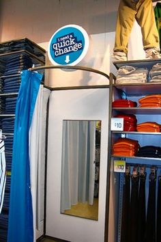 The simplest dressing room of all for your consignment or resale shop, says http://TGtbT.com , especially if your customer is a guy slipping into chinos or a recalcitrant child whose mother insists she try that dress on!