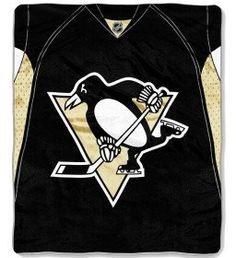 Pittsburgh Penguins Blanket 50x60 Raschel Jersey Design