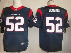 Blue Tim Dobbins Elite Jersey, Houston Texans #52 Nike NFL Jersey$23