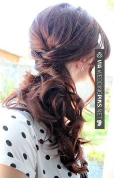 Wow - Side Swept Wedding Hair side swept wedding hairstyle | CHECK OUT SOME TO…
