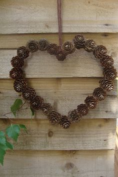 Pine cone Heart Wreath-Winter Wreath Inspiration Board