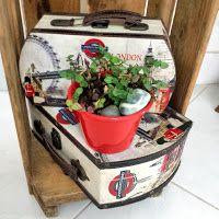 #box #mala #decoração #sustentavel #succulents #red #reciclagem