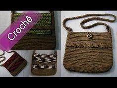 Como fazer bolsa de croche   Bolsa de Mão   Clutch   Parte 1 - YouTube