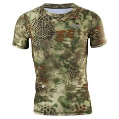 New Summer Camouflage Men T-shirt Casual Tactical Army Combat O Neck T Shirt Men Quick Dry Short Sleeve Camo Clothing