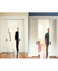 Dad Recreates Wedding Photos with Daughter: Ben Nunery and his little girl remake pictures that honor his late wife