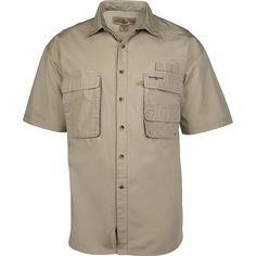 5334154d70e Hook & Tackle Men's Gulfstream | Short Sleeve | Vented | Performance Fishing  Shirt - Sand - CI115S2J79R