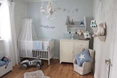 pale blue and white
