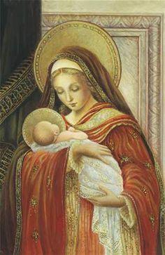 Blessed Mother Mary, Blessed Virgin Mary, Catholic Prayers, Catholic Art, Religious Icons, Religious Art, Christian Christmas Cards, Prayer Garden, Images Of Mary