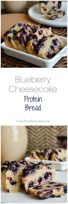 Blueberry Cheesecake Protein Bread #cleaneating #healthy #protein