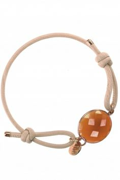 iris I #leather bracelet with faceted calcedony I designed by marjana von berlepsch I NEWONE-SHOP.COM