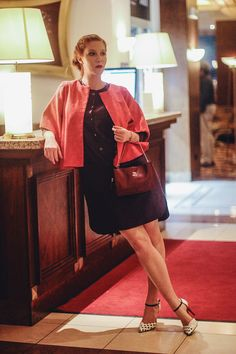Jacket,dress/Zuzana Vesela shoes/Salamander Purse/Elega Bracelet/Trollbeads
