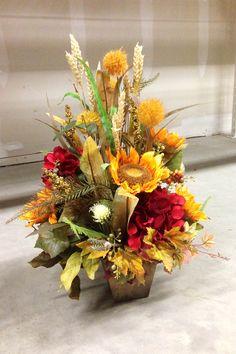 Sunflower Arrangements, Artificial Floral Arrangements, Fall Floral Arrangements, Alter Flowers, Fall Flowers, Exotic Flowers, Pumpkin Centerpieces, Thanksgiving Centerpieces, Fall Wreaths