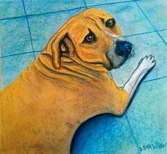 Pet portrait custon fine art from your photo dog by NouveauNiche, $200.00