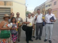 Brothers and sisters preaching Campaign in Malta. Europe
