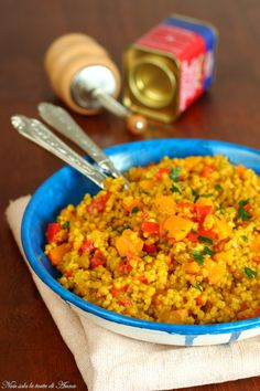 Couscous Recipes, Couscous Salad, Clean Eating, Healthy Eating, Tasty, Yummy Food, Fresh Herbs, Fried Rice, Risotto