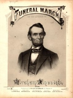 Funeral March to the Memory of Abraham Lincoln (Boston, 1865), sheet music by Gaetano Donizetti.