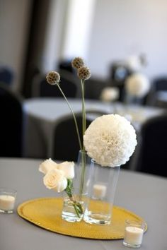 Table decor does not have to overwhelm the room.