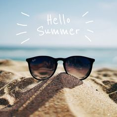 Hello Summer, Place, Wayfarer, Ray Bans, Photos, Sunglasses, Poster, Style, The Letterman