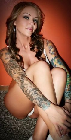 Hot Girl Sleeve Tattoos Ideas
