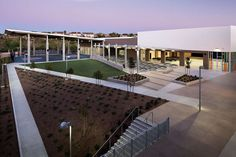 All project Photography: Copyright Zack Benson Photography  The campus is designed to provide for and enrollment of 1,500 K-8 students in a highly integrated...
