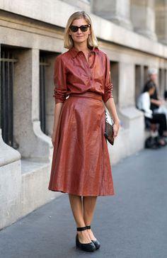 Street Style: Paris Fashion Week Spring 2014 Flat shoes