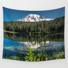 Reflection Lake Landscape Wall Tapestry