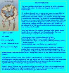 Native American Animal Medicine - Butterfly
