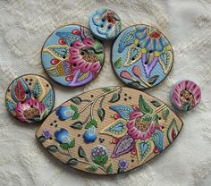 More buttons....solid polymer by dixie103, via Flickr