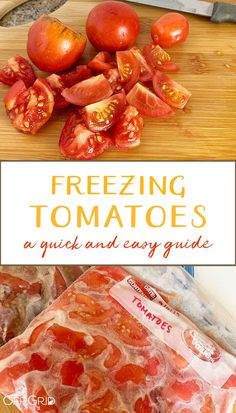 Freezing Tomatoes - A Quick And Easy Guide - Off Grid World Stewed Tomato Recipes, Fresh Tomato Recipes, Stewed Tomatoes, Canning Tomatoes, Dried Tomatoes, Freezing Vegetables, Frozen Vegetables, Recipe For Freezing Tomatoes, Veggies