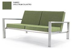Case Study Stainless Steel Loveseat, Upholstered - Modernica