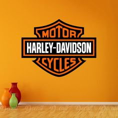 Harley-Davidson is an American motorcycle maker that started making motorcycles in Milwaukee in Harley Davidson Stickers, Harley Davidson Logo, Harley Davidson Motorcycles, Sports Wall Decals, Wall Stickers, Toronto Maple Leafs Logo, Motorcycle Stickers, Laptop Decal, Company Logo