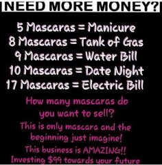 How many mascaras do you wanna sell? #younique email productsfromjamie2014@yahoo.com